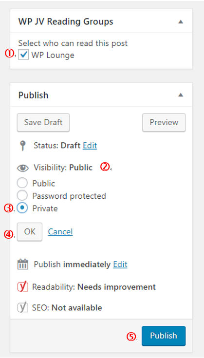 How to Create a Private post in WordPress