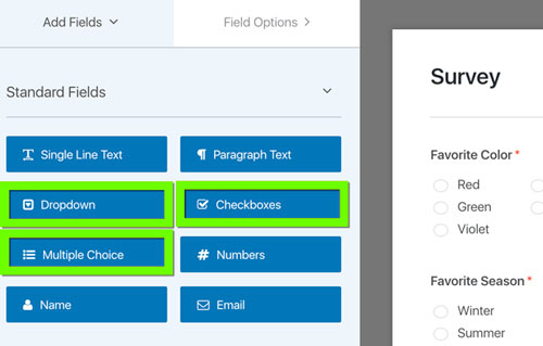 Create a survey form in WordPress