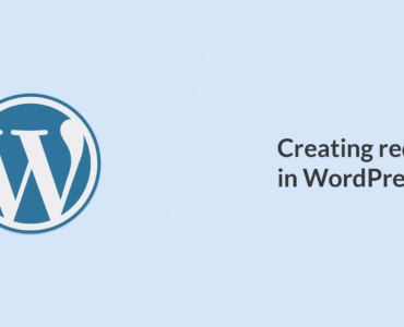 Creating redirects in WordPress