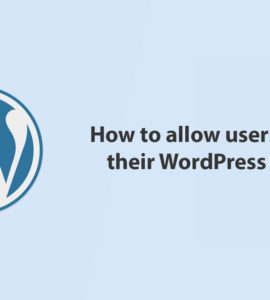 How to allow users to delete their WordPress accounts