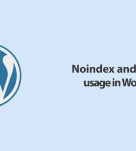 Noindex and nofollow usage in WordPress
