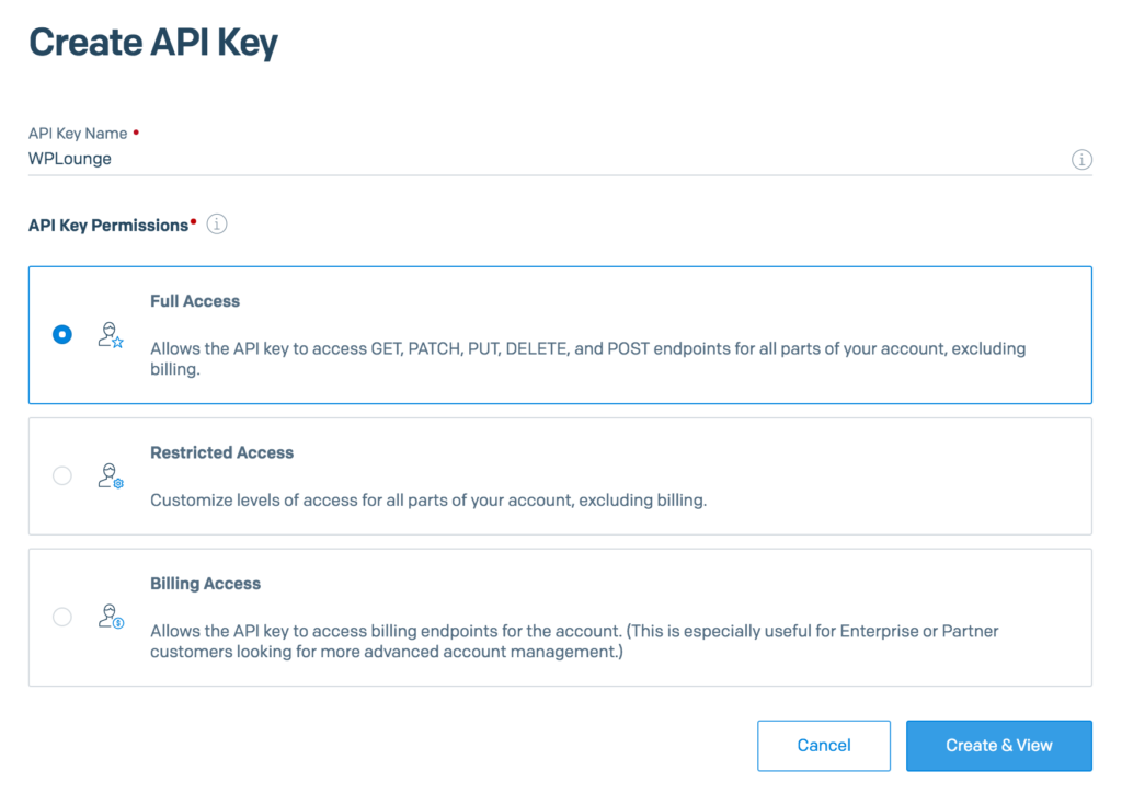 SendGrid API Key Full Access
